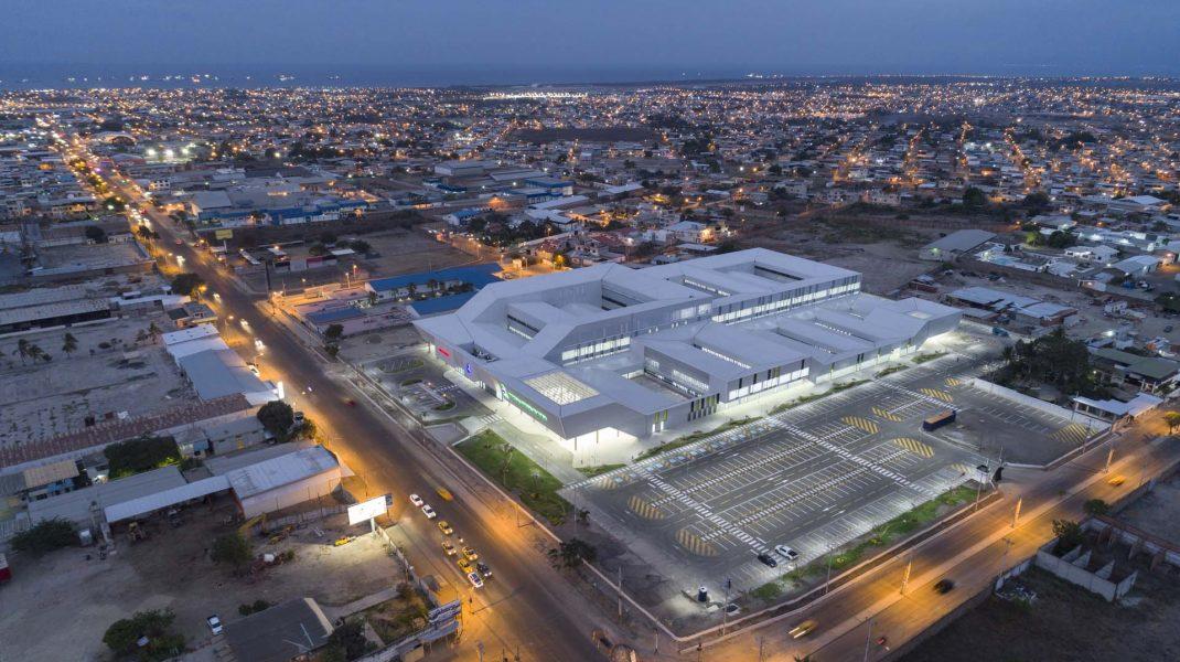 Vista aerea Hospital General Manta Ecuador